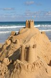 Sand castle. By the sea Stock Photography