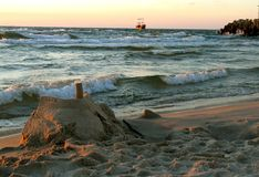 Sand castle Stock Image