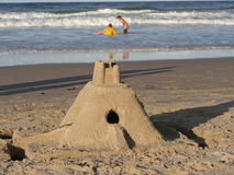 Sand Castle. A sand castle on the beach Royalty Free Stock Photography