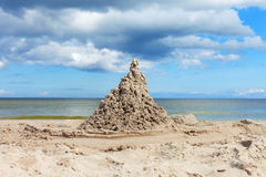 Sand castle. Royalty Free Stock Photo