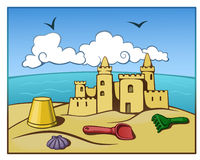 Sand castle Stock Photo