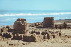 Sand castle Stock Images