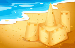 A sand castle at the beach Royalty Free Stock Photo