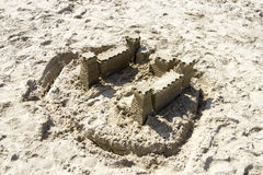 Sand Castle on the Beach, North Sea, Netherlands Stock Image