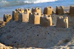 Sand Castle on Beach Stock Image