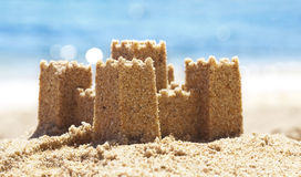 Sand Castle on Beach Royalty Free Stock Photos