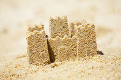 Sand Castle on Beach Royalty Free Stock Photography