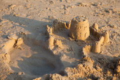 Sand Castle on Beach Royalty Free Stock Photo