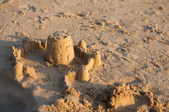 Sand Castle on Beach Royalty Free Stock Images