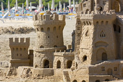 Sand Castle on the Beach Royalty Free Stock Photography