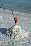 A Sand Castle on Bonita Beach Royalty Free Stock Photos