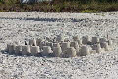 Sand Castle on Bonita Beach Stock Images
