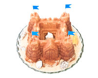 Sand castle cake Royalty Free Stock Image