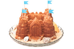 Sand castle cake Stock Photo