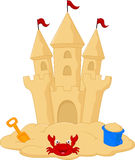 Sand castle cartoon Stock Image