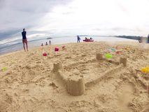 Sand Castle - Children's creativity Stock Photography