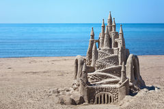 Sand Castle Horizontal Royalty Free Stock Images