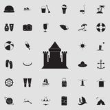 sand castle icon. Detailed set of summer pleasure icons. Premium quality graphic design sign. One of the collection icons for webs stock illustration