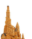 Sand Castle isolated on white. Background stock image