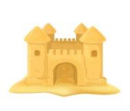 Sand castle. Isolated on white background, illustration vector illustration