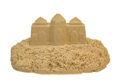 Sand Castle Isolated On White Background Royalty Free Stock Photography