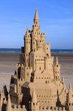Sand Castle in Jersey Stock Photography