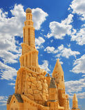 Sand Castle over blue sky Stock Photos