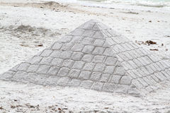 Sand Castle Pyramid Stock Photography