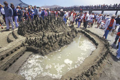 Sand Castle Sculpting Contest, Royalty Free Stock Photos