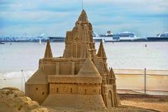 Sand castle sculpture Stock Image