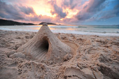 Sand castle Royalty Free Stock Photos