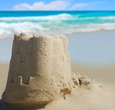 Sand Castle at Seashore Stock Images