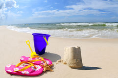 Sand Castle on Seashore Royalty Free Stock Photography