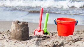 Sand castle royalty free stock photo