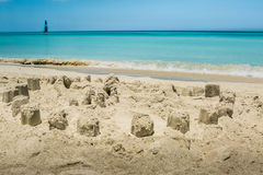 Sand castle. On the shore Stock Photography