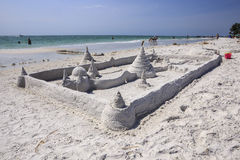 Sand Castle Siesta Key Florida Stock Image