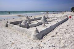 Sand Castle Siesta Key Florida. A grand sand castle on the beach at Siesta Key Florida outside of Sarasota Stock Image