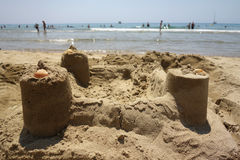 Sand castle in Sperlonga, Italy Royalty Free Stock Image
