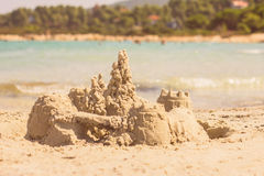 Sand Castle Summer Vacation Stock Image