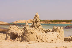 Sand Castle Summer Vacation Royalty Free Stock Photos