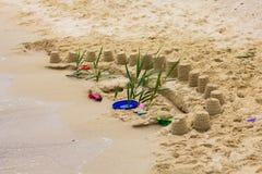 Sand Castle Summer Vacation Stock Photo