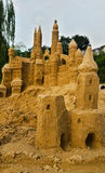 Sand castle. In the sunset Royalty Free Stock Photo