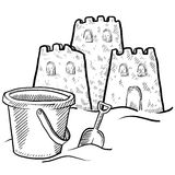 Sand castle vector Stock Images