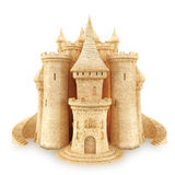 Sand Castle. On a white background Stock Images