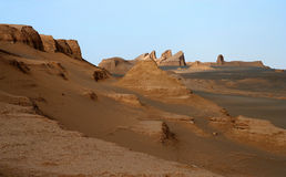 Sand Castles. In the remote iranian desert Royalty Free Stock Images