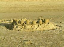 Sand Castles. On the beach Royalty Free Stock Photos