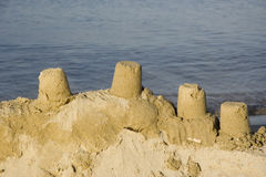 Sand castles Royalty Free Stock Photo