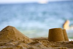 Sand Castles Royalty Free Stock Photos