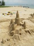 Sand castles stock images