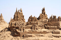 Sand castles Royalty Free Stock Photography
